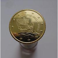 50 евроцентов 2011 Кипр UNC из ролла