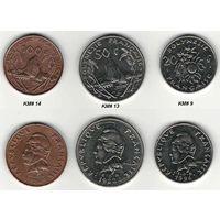 W: Французская Полинезия 20 франков, 50 франков, 100 франков (1103)