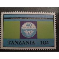 Танзания 1984 Эмблема ICAO, концевая марка Mi-3,0 евро