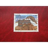 Марка 100-лет обсерватории Regina Margherita 1993 год Италия