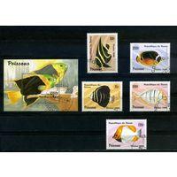 Бенин 1996г, аквариумные рыбки, 5м. 1 блок