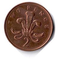 Великобритания. 2 пенса. 2001 г.