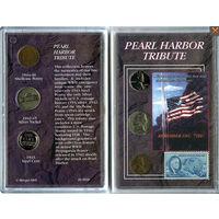 США редкий набор 1943 - 1945 PEARL HARBOR монеты марка