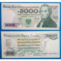 Польша 5000 злотых 1982. UNC