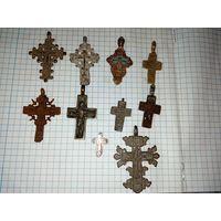 Нательные кресты коллекция с рубля!