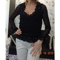 Нарядная черная блузочка, кофточка, размер 44 S
