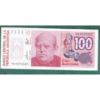 АРГЕНТИНЯ  100  АУСТРАЛЕЙ 1985 -90 год
