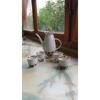 Кофейник и 6 чашек. Полонский сделано в СССР. См. описание