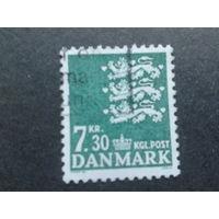 Дания 1989 герб Mi-3,2 евро гашеная