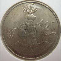 Соломоновы Острова 20 центов 1995 г. ФАО. В холдере
