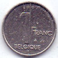 Бельгия, 1 франк 1997 года.