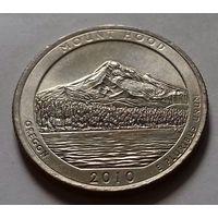 25 центов, квотер США, нац. парк Маунт Худ, штат Орегон, D