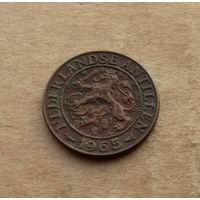 Нидерландские Антильские острова, 1 цент 1965 г.