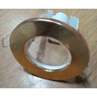 Светильник для подвесного потолка точечный металлический золотистый
