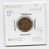 Эстония 10 сентов 1997 - 1