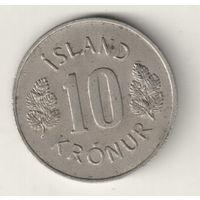 Исландия 10 крона 1967