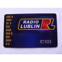 """Польская карточка  """"Люблин радио""""  распродажа"""