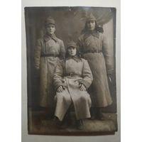 .Фото 3-х красноармейцев. 1920-30е 8.5х12 см
