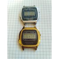Редкие часы СССР ЭЛЕКТРОНИКА 5 в желтом корпусе с 1 РУБЛЯ ! + Запчасти !
