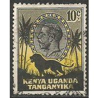 Кения Уганда и Танганьика. Король Георг V. Лев. 1935г. Mi#33.
