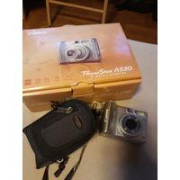 Фотоаппарат CANON, б/у + карта памяти + чехол.