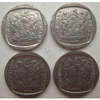 ЮАР 1 ранд 1992, 1993, 1994, 1995 гг. Цена за 1 шт. (gb)