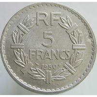 1k Франция 5 франков 1950 В ХОЛДЕРЕ распродажа коллекции