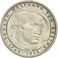 "Германия (ФРГ), 5 марок 1982 год, ""Иоганн Вольфганг фон Гёте"""