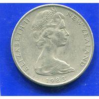Новая Зеландия 20 центов 1983