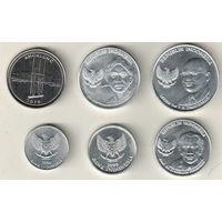 Индонезия набор 6 монет 1994-2016