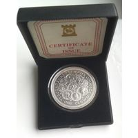 Остров Мэн. 1 крона 1979. 300 лет монетам острова Мэн.