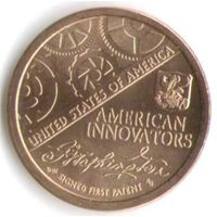 1 доллар США 2018 год Первый патент серия Американские инновации