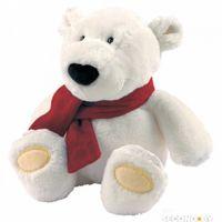 """Плюшевые игрушки Полярный мишка с шарфом 50 см,производитель """"Niki"""",Германия+подарок"""