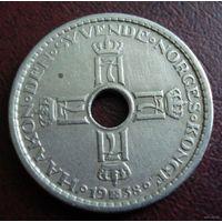Норвегия. 1 крона 1938 г.