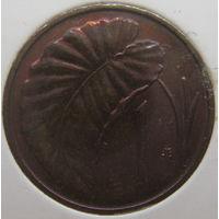 Острова Кука 1 цент 1983 г. В холдере