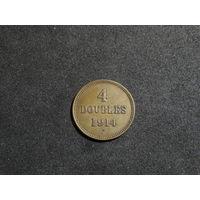 Гернси 4 дубля, 1914 KM#13