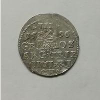 З гроша (Трояк) 1596г Рига