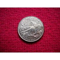 США 25 центов ( квотер ) 2008 г. Оклахома.
