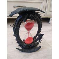 Часы песочные интерьерные два дракона