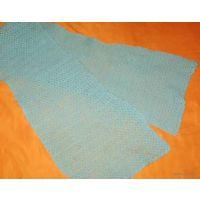 Ажурный голубой шарф