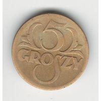 Польша 5 грошей 1923 года