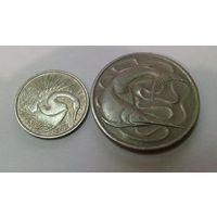 Сингапур 5, 20 центов 1967