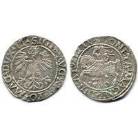 Полугрош 1560, Жигимонт Август, Вильно. Окончания легенд: Ав - LI, Рв - LITV. Штемпельный блеск под патиной