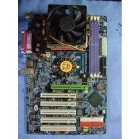 Материнская плата Gigabyte GA-8PE800-RS + CPU Intel Pentium 4 3.0 GHz (s.478) + система охлаждения GlacialTech Igloo 4360
