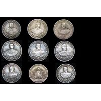 Набор 10 монет 50,100 рублей 1945 Полководцы СССР Рокоссовский, Мерецков и др. , копии