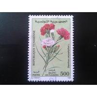 Тунис 1999 цветы Mi-1,8 евро гаш.