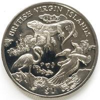 Британские виргинские острова 1 доллар 2018 года. Архипелаг и дикая природа