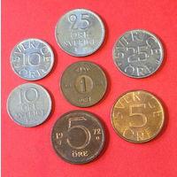 Швеция, 7 монет