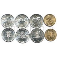 Сомали 4 монеты 2000-2002 годов. Животные