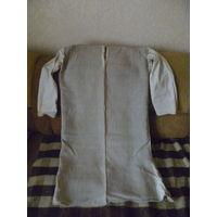 Женская длинная рубаха из небеленого домотканого льняного полотна. 20-30-е годы